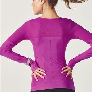 Fabletics Tops - Fabletics Delta Long Sleeve Fuchsia Fitted top